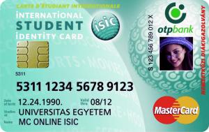 ISIC Co-Branded kártya